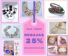#rebajas #verano #2016 #plata #anillos #pulseras #pendientes #colgantes #perlas #relojes #moda #fashion #shopping #descuentos en www.capricciplata.com