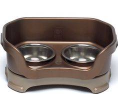 Neater Feeder: keeps dog food off the floor & water from spilling over
