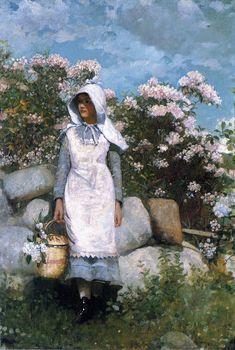 Winslow Homer. Girl and Laurel