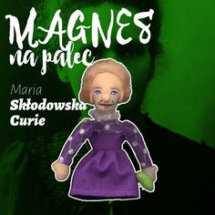 Kukiełka magnes Maria Skłodowska-Curie