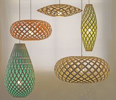 Suspension Hinaki / H 80 cm - Bicolore - David Trubridge - Suspensions - Luminaire
