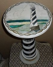 LOVELY NAUTICAL LIGHTHOUSE ACCENT LAMP TABLE, OCEAN WATER SEA LIGHT HOUSE