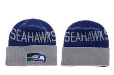 43d584449ef Mens   Womens Seattle Seahawks New Era Blue   Heather Gray NFL Classic  Cover Cuffed Knit Beanie Hat