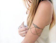 Twisted Gypsy Arm Chain Cuff • coachella festival body jewelry