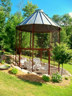 Corn Crib Gazebo by BrianBlom, via Flickr. This would make a great chicken coop!  I think this is what Coop #3, Lucky Star Ranch,  on the Hill Country Coop Tour may have used for their lovely Coop: http://www.hillcountrychickencooptour.blogspot.com/