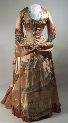 Dress ca. 1882. From the Manchester Art Gallery.