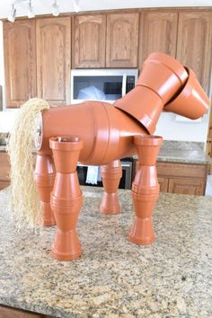 DIY Clay Horse Flower Pot Tutorial - Fun, Whimsical and great for Equestrians - - This DIY Clay Horse Flower Pot Tutorial makes an adorable focal point in your garden. It is the perfect yard décor for those who love horses! Flower Pot Art, Flower Pot Design, Clay Flower Pots, Flower Pot Crafts, Clay Flowers, Diy Flower, Clay Pot Projects, Clay Pot Crafts, Diy Clay