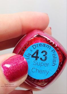 ThatGalJenna - Aly's Dream Polish Review and Swatches - Super Cherry #43