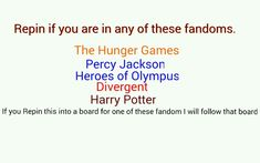 Percy Jackson and Harry Potter. I've read them all but I'm only in those fandoms. Harry Potter Fandom, Harry Potter Memes, Fandoms Unite, Jorge Ben, Tribute Von Panem, Divergent Series, Divergent Factions, Divergent Fandom, Rick Riordan Books