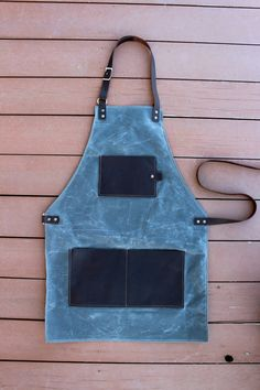 Osenga Leatherworks is pleased to offer for sale our handmade waxed canvas and leather aprons. Our aprons are constructed with the craft