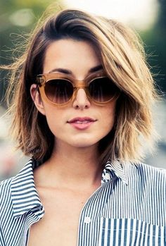 Haircuts for Short Hair: The Choppy Lob.