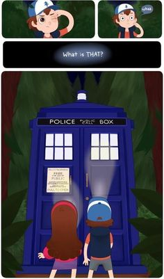 Gravity Falls meets Doctor Who. Oh my, I would love to see Mabel and Eleven have a conversation.