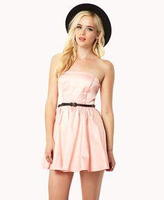 Satin Tube Dress w/ Convertible Straps | FOREVER21 - 2040166719