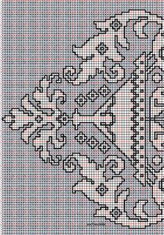 """working drawing 2 for Assisi embroidery design """"shelled border"""""""