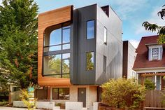 Avenue City Homes by Malboeuf Bowie Architecture: Seattle-based architecture firm Malboeuf Bowie Architecture presents the Avenue City Homes. Architecture Design, Amazing Architecture, Residential Architecture, Seattle Washington, Seattle Neighborhoods, Modern Townhouse, Archi Design, New York Homes, Street House