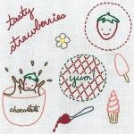 Strawberries Embroidery Pattern