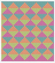 Risultati immagini per crochet pattern wayuu bag Bag Crochet, Filet Crochet, Tapestry Crochet Patterns, Knitting Patterns, Knooking, Tapestry Bag, Cross Stitch Embroidery, Plastic Canvas Patterns, Loom Beading
