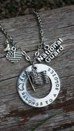 My heart belongs to a solider, national guard. by BobbiesBeadsandBling on Etsy https://www.etsy.com/listing/247878061/my-heart-belongs-to-a-solider-national