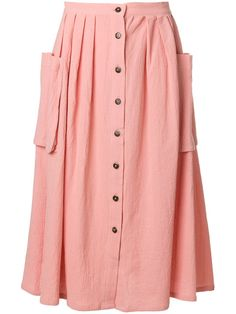 Lf Markey flared button skirt