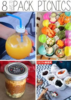 8 Ways to Pack Picnics with Kids - such a fun round-up of picnic ideas for families! I especially love the food in the plastic Easter eggs!