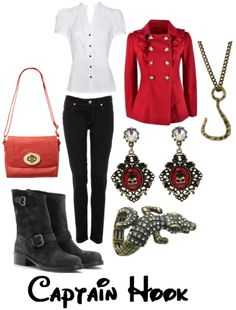 Disney bound outfits - Captain Hook I could easily do this one!