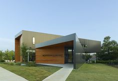 A green-roofed, daylit, high-performance elementary school in Fayetteville, Arkansas.