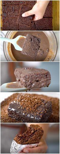 Bolo Gelado de Brigadeiro, o melhor bolo do mundo!