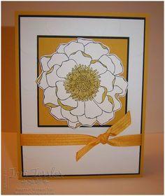 Stampin Up Blended Bloom Large Polka Dots folder Hello Honey