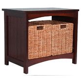"""$135.01 Found it at Wayfair - Wood Storage Bench19.63"""" H x 22.63"""" W x 14.63"""" D For entry next to coat rack and yes I measured."""