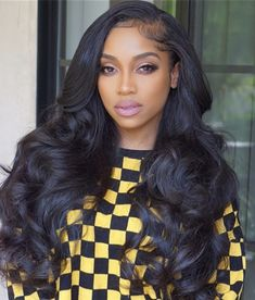Online Shop Rabake Brazilian Body Wave Hair 3 Bundles With Closure Grade Brazilian Virgin Hair Wavy Human Hair Bundles With Closure,factory cheap price with store coupon DHL worldwide shipping. Oscar Hairstyles, African Hairstyles, Wig Hairstyles, Frontal Hairstyles, Long Weave Hairstyles, Elegant Hairstyles, Black Hairstyles, Remy Human Hair, Human Hair Extensions