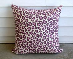 Purple Leopard with Cream Background Fabric by lovelylovedesigns, $25.00