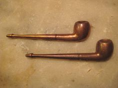 2 Die Struck Brass 41mm Pipe Stampings  by StarPower99 on Etsy, $2.80