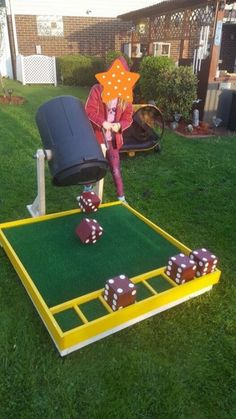 My dad is awesome! creative diy backyard games for kids this summer Diy Yard Games, Diy Games, Backyard Games, Backyard Ideas, Backyard Playground, Diy Crafts Games, Diy Carnival Games, Backyard Camping, Garden Games