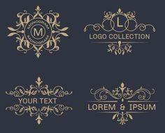 ornamental-logos Free Elegant Design Elements to Add Class to Your Work Logo Design, Web Design, Vector Design, Graphic Design, School Doodle, Logo Fleur, Etiquette Vintage, Photos Hd, Luxury Logo