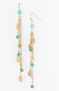 Sequin Beaded Linear Drop Earrings available at #Nordstrom