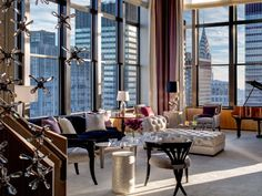 The 5,000-square-foot, three-level Jewel Suite at the Lotte New York Palace is pretty lavish to begin with, adorned with handblown crystal chandeliers and plush, jewel-toned furniture, plus an outdoor jacuzzi tub and panoramic views over Manhattan. But if that's not quite enough then don't worry: All Jewel Suite guests are gifted a Martin Katz Diamond Microband Ring, worth $2,500, to seal the deal. (Though at $25,000 a night, we'd hardly call it a freebie).