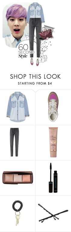 """""""60 second style"""" by ladysnape ❤ liked on Polyvore featuring Étoile Isabel Marant, Balenciaga, Altuzarra, Too Faced Cosmetics, Hourglass Cosmetics, Goody and Glam Rock"""