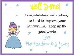 Handwriting Fairy!  I could have used this last year to encourage better handwriting...totally using it this year!