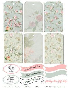 Free Shabby Mothers Day Tags