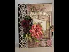 PART 1 TUTORIAL HEARTFELT CREATIONS RAINDROPS ON ROSES MINI ALBUM - DESIGNS BY SHELLIE - YouTube