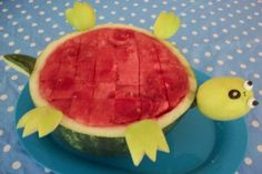 Oh no! The turtle turned over! ... Cute way to serve watermelon! (includes how-to instructions)