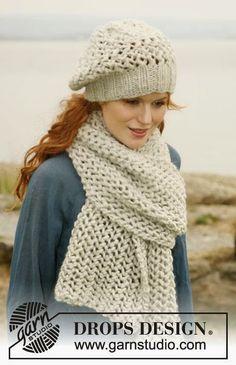 MES FAVORIS TRICOT-CROCHET: Modèle tricot gratuit : Écharpe et bonnet au point...