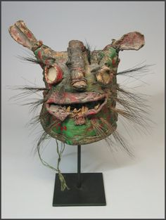 Mexican Tigre mask from Zitlala, Guerrero