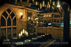 The Great Hall for our #harrypotter party. Step by step instructions on how to create this in your home! #harrypotterparty