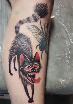Marine Perez dog cat tattoo