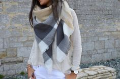 Maxi Plaid Scarf