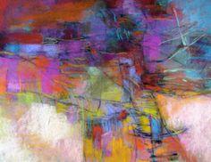 Intricate Dialogue. Soft pastel on texture board byDebora Stewart