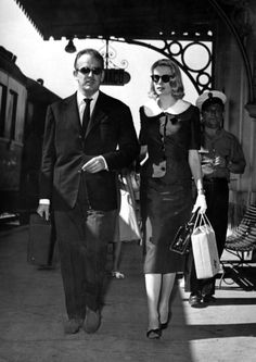 Princess Grace Kelly and Prince Rainier of Monaco.  Uploaded By www.1stand2ndtimearound.etsy.com