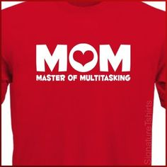 Items similar to MOM Womens unisex T-Shirt Master of Multitasking tshirt shirt Christmas Gift Mother's Day more colors on Etsy Mother Christmas Gifts, Branded Shirts, Funny Moments, Shirt Designs, Unisex, Gift Ideas, Colors, Day, T Shirt