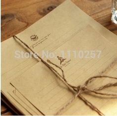Find More Letter Pad / Paper Information about Brown Vintage Letter Paper,Kraft Letter Writing Paper Sets   120sheets,High Quality set pillow,China set jack Suppliers, Cheap paper bag twisted handle from Shining Fish Store on Aliexpress.com